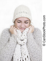 girl warm clothing