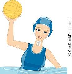 Girl Water Polo