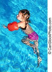 girl water pool