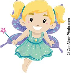 Girl Wearing Fairy Costume