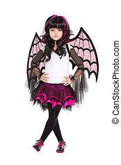 Girl wearing like a bat