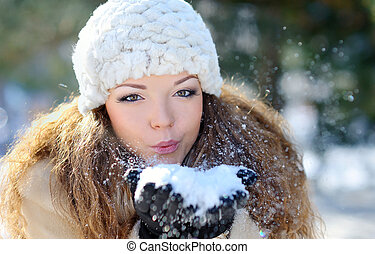 Girl Wearing Warm Winter