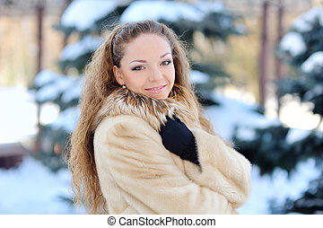 Girl Wearing Winter Clothes