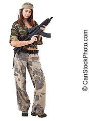Girl whit gun