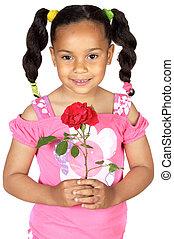 Girl whit one rose
