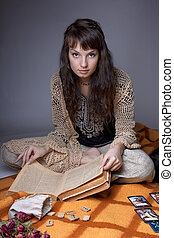 Girl who read the cards - Picture of a girl who read the ...