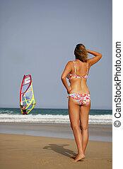 girl, windsuf