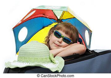 Girl wit umbrella