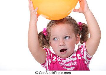 Girl with a balloon