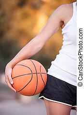 girl with a basketball ball