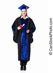 Girl with a diploma