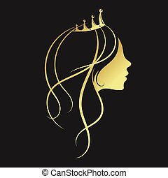 Girl with a golden crown