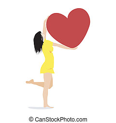 Girl with a heart.