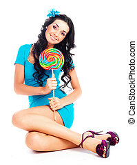 girl with a lollipop