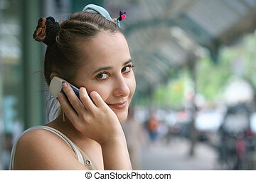 Girl with a phone