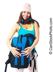 girl with a rucksack