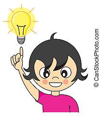 Girl with an idea