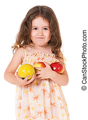 Girl with apple