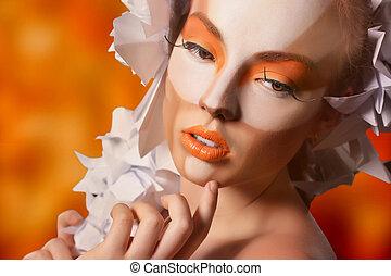 Girl with artistic makeup