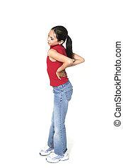 girl with backache