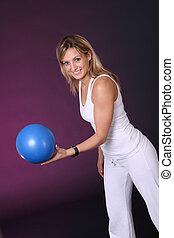 Girl with ball