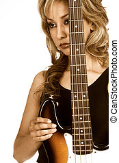Girl with Bass