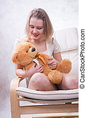 Girl with bear