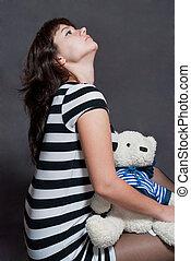 girl with bear