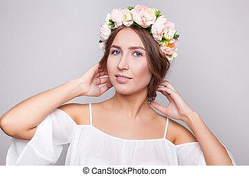 Girl with beautiful makeup