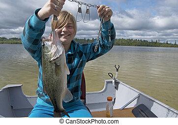 Girl With Big Bass