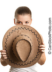Girl with big hat