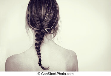 Girl with braid