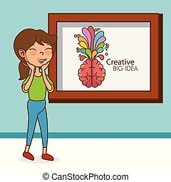 girl with brain creative big idea