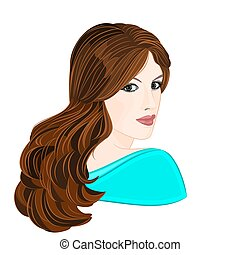 Girl with brown hair and brown eyes elegance portraits