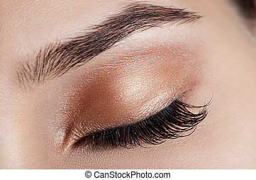 Girl with brown make up