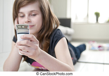 Girl With cellphone