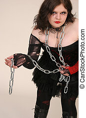Girl with chain