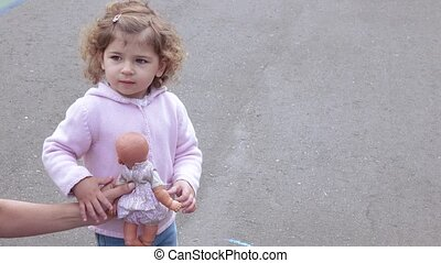 Girl with chalk in hand