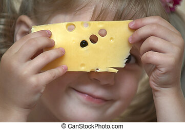 Girl with cheese
