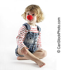 girl with clown nose