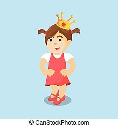 girl with crown colorful