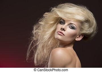 girl with cute creative hair-style