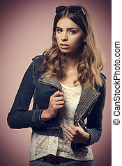 girl with cute modern casual style