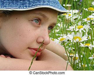 girl with daisies 1