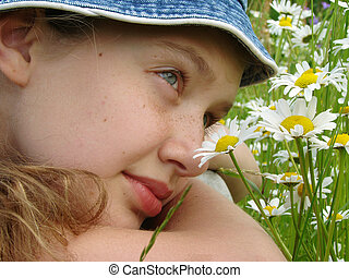 girl with daisies 4