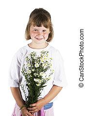 Girl with daisy's