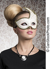 girl with decorated mask