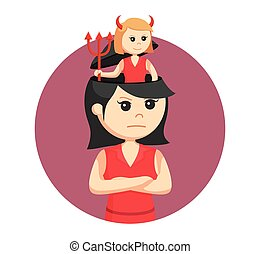 girl with devil in her head