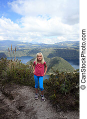 Girl With Dimples at Lake Cuicocha