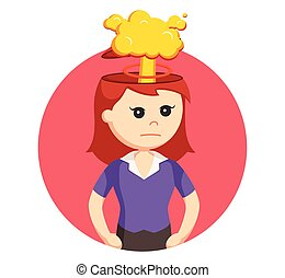 girl with explosion in her head